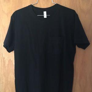 American Apparel black pocket tee t-shirt